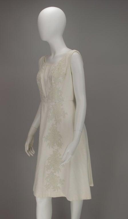 Women's 1960s Philip Hulitar lace applique cocktail dress For Sale