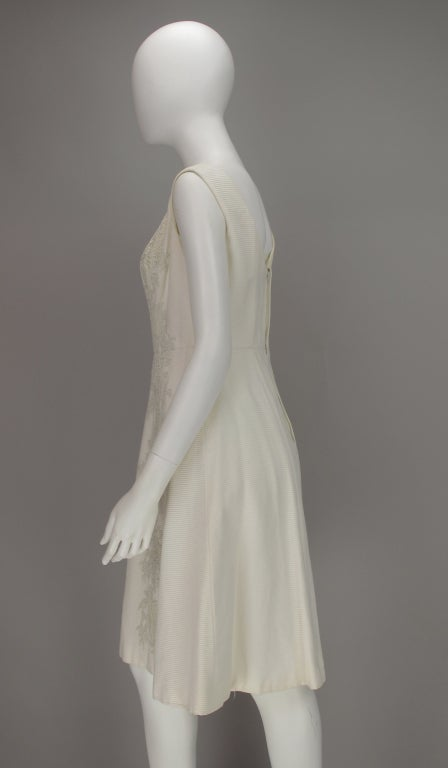1960s Philip Hulitar lace applique cocktail dress For Sale 1