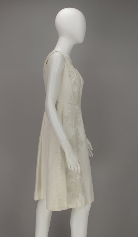 1960s Philip Hulitar lace applique cocktail dress For Sale 2