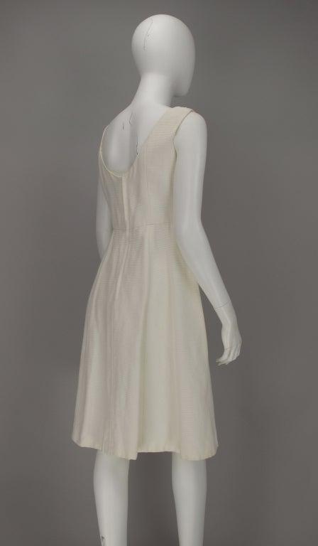 1960s Philip Hulitar lace applique cocktail dress For Sale 3