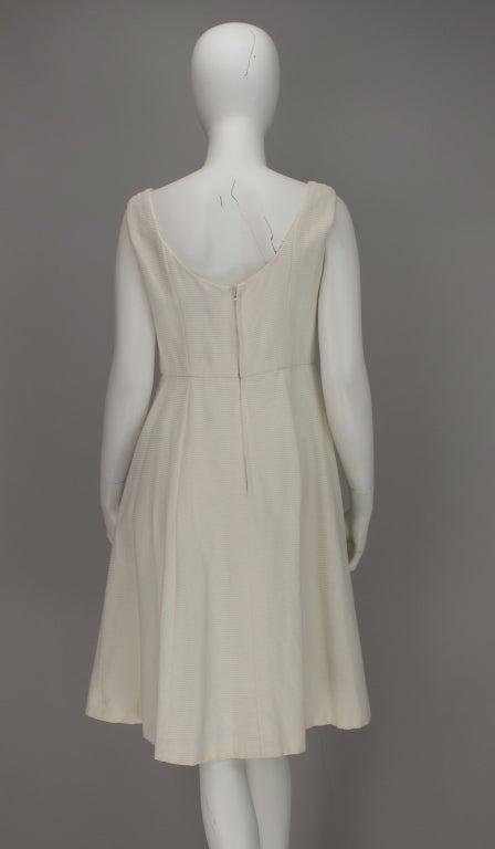 1960s Philip Hulitar lace applique cocktail dress For Sale 4