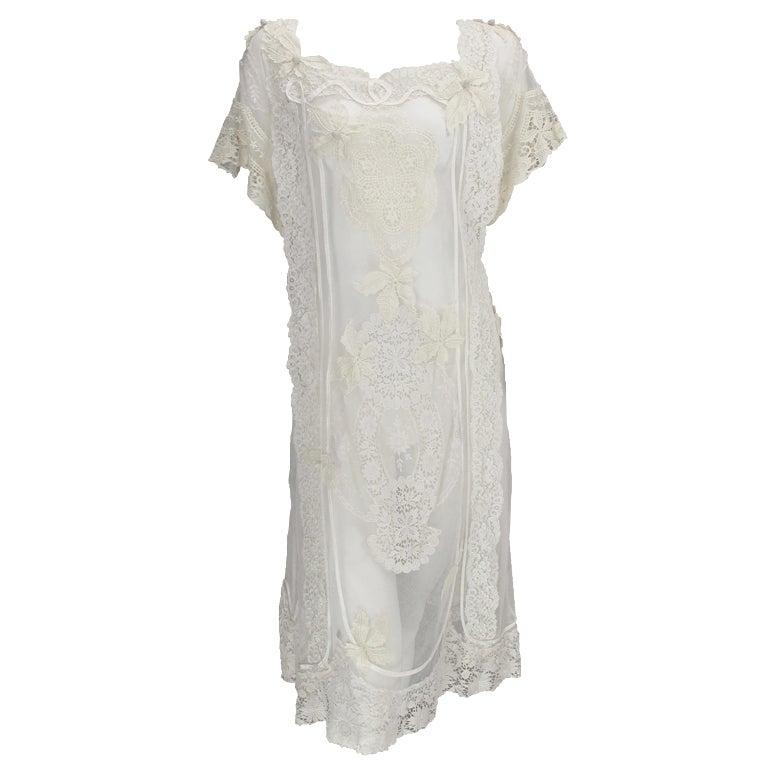 White lace dress, Nostalgia, Coconut Grove 1970s 1