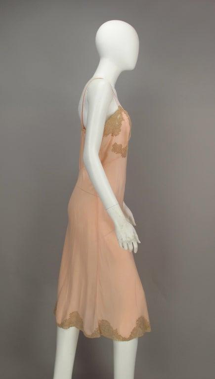 1930s Crepe de chine couture slip 6