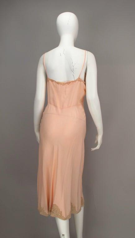 1930s Crepe de chine couture slip 7