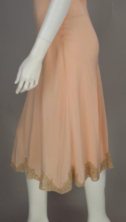 1930s Crepe de chine couture slip 8
