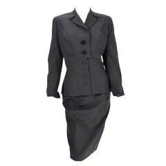 Irene 1940s fine wool suit