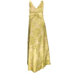 Lord & Taylor 1960s brocade gown
