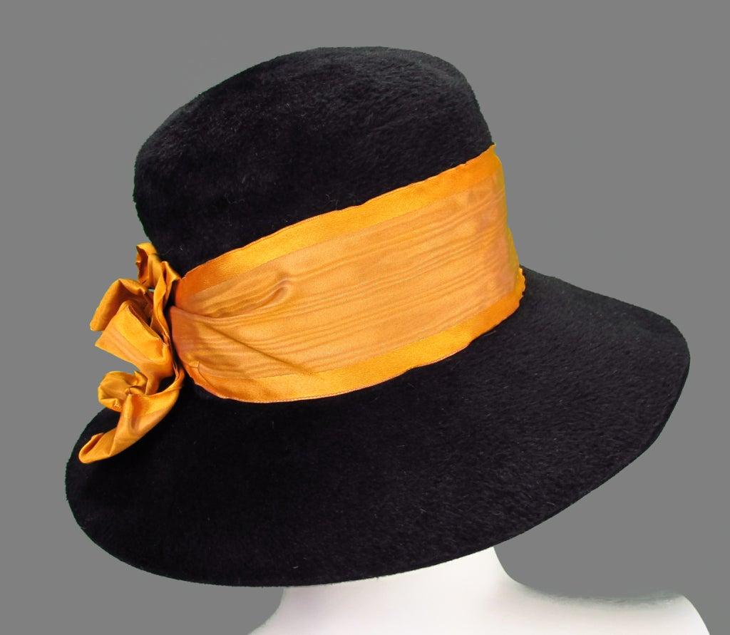Victorian black beaver fur felt hat 5