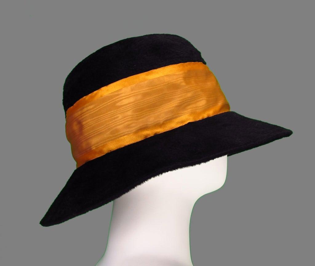 Victorian black beaver fur felt hat 6