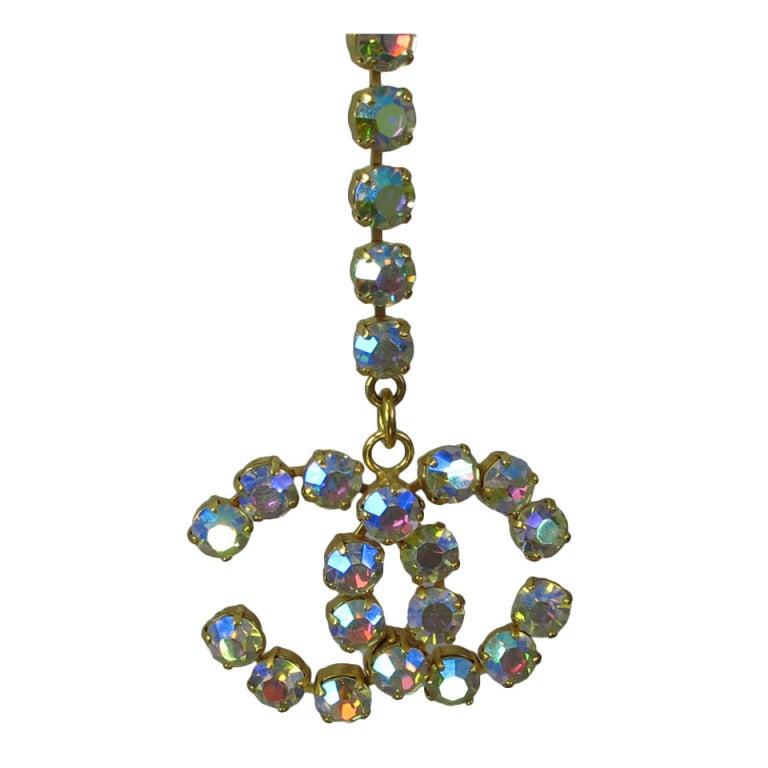 1995 Chanel rhinestone glitter belt