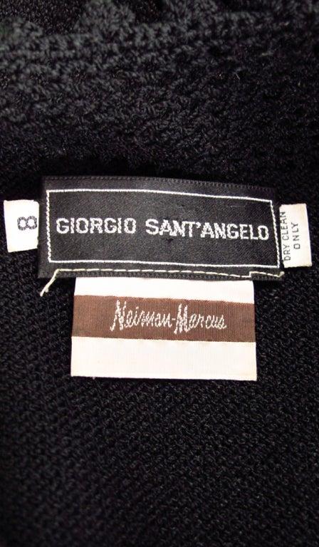 Giorgio di Sant'angelo black crochet boho fringe dress 10
