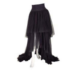 Chanel layered tulle skirt with train 1992