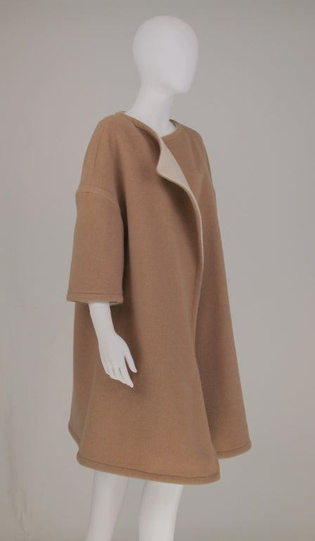 Women's Double face wool/cashmere  reversible coat 1960s