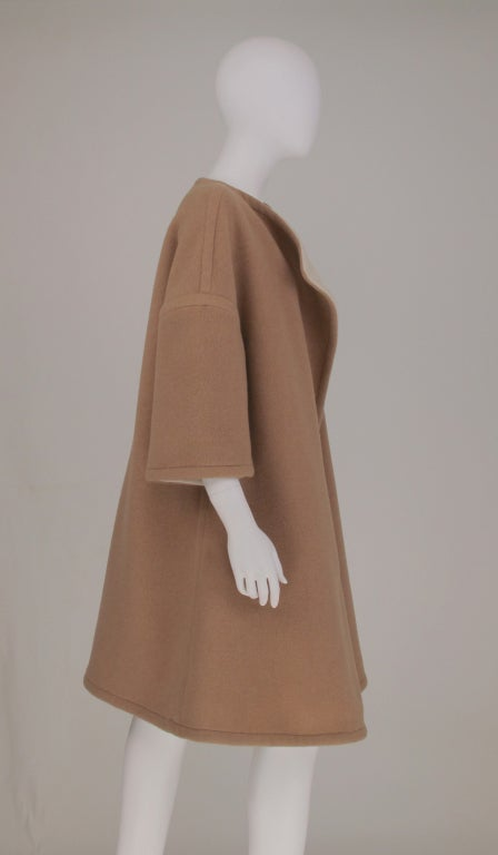 Double face wool/cashmere  reversible coat 1960s 1