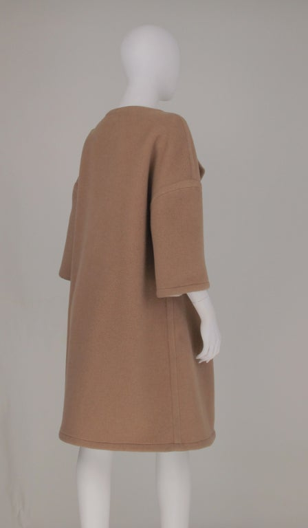 Double face wool/cashmere  reversible coat 1960s 2