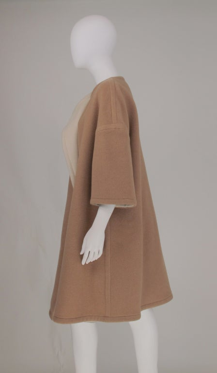 Double face wool/cashmere  reversible coat 1960s image 8