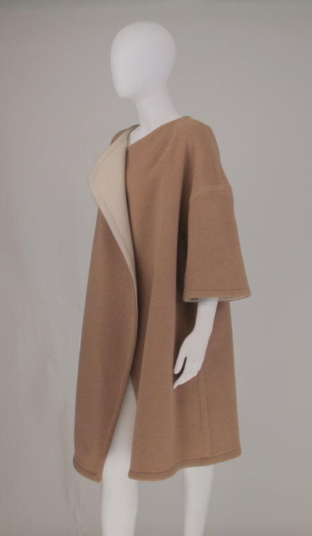 Double face wool/cashmere  reversible coat 1960s image 9