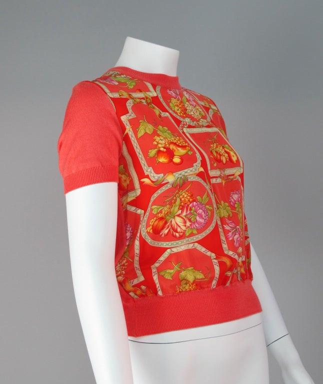 Salvatore Ferragamo silk scarf front sweater 4