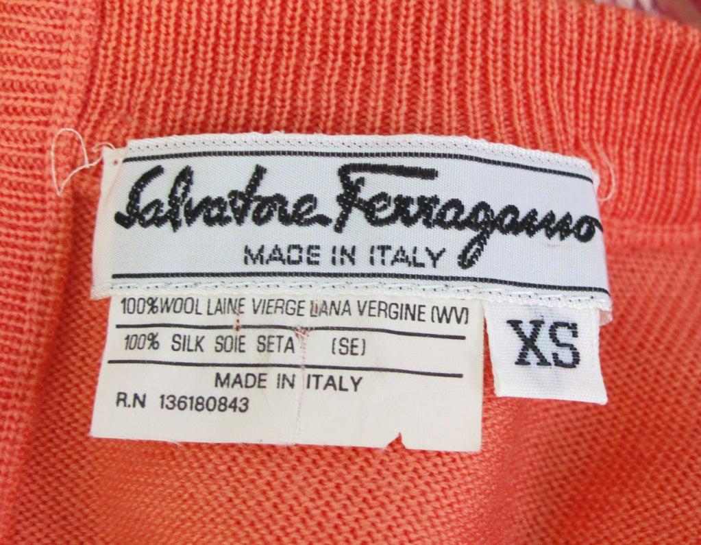 Salvatore Ferragamo silk scarf front sweater 7