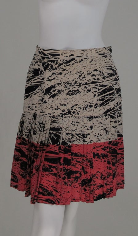 1980s Gianfranco Ferre abstract pleated skirt 2