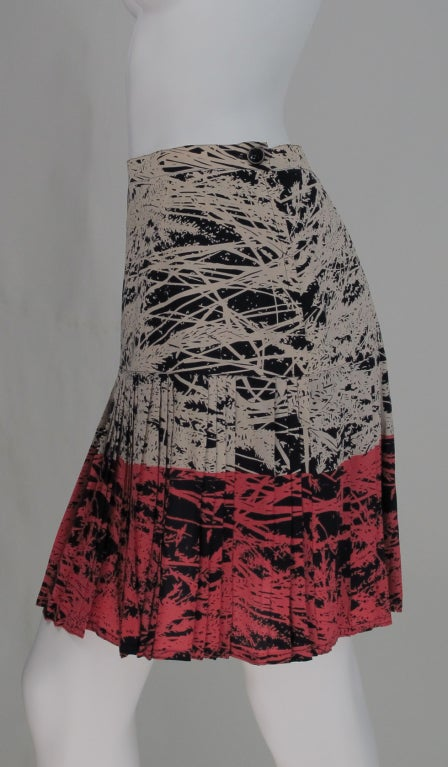 1980s Gianfranco Ferre abstract pleated skirt 3