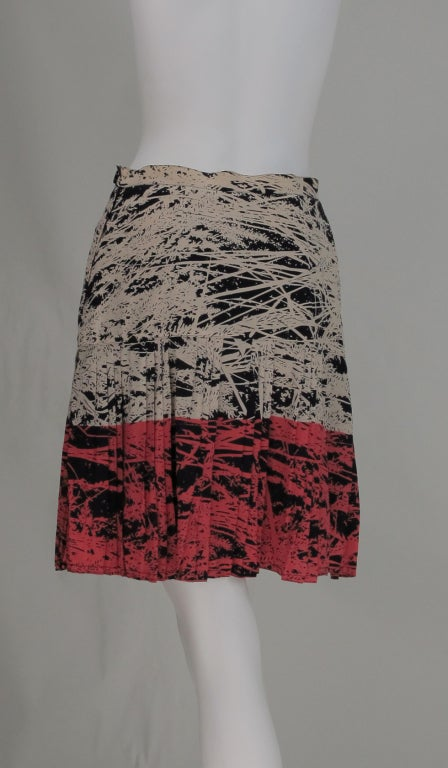1980s Gianfranco Ferre abstract pleated skirt 4