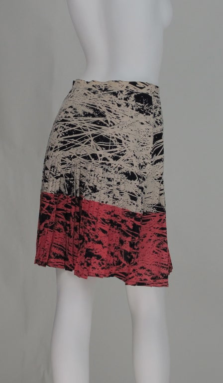 1980s Gianfranco Ferre abstract pleated skirt 6