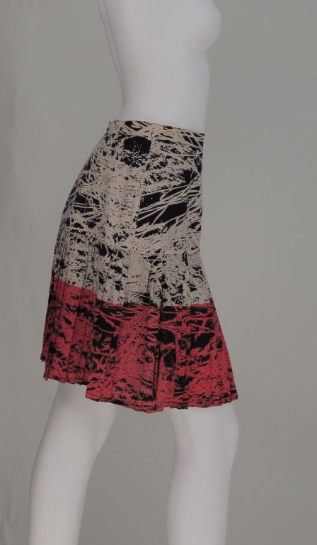 1980s Gianfranco Ferre abstract pleated skirt 7
