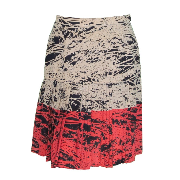 1980s Gianfranco Ferre abstract pleated skirt 1