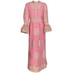 1960s Tina Leser Originals Raj inspired gown