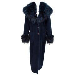Giuliana Teso alpaca & fox fur coat 1990s