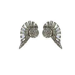 Boucher winged orbs ear clips
