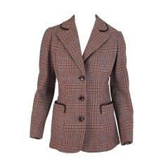 Maggy Rouff 1930s classic plaid jacket