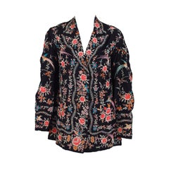 1920s Embroidered silk evening jacket