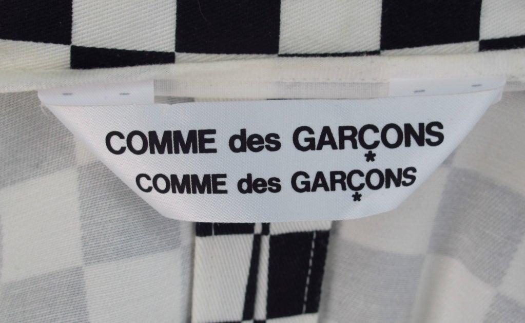 Comme des Garcons black & white check cutaway coat 10