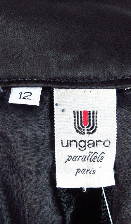 1990s Ungaro black velvet fish tail hem maxi skirt For Sale 6