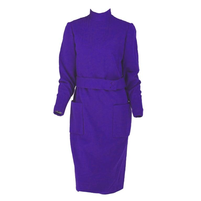 1960s  Norman Norell Mod wool jersey dress