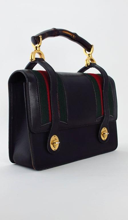 Rare Gucci bamboo handle handbag 1960s 2
