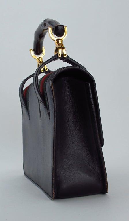 Rare Gucci bamboo handle handbag 1960s 3