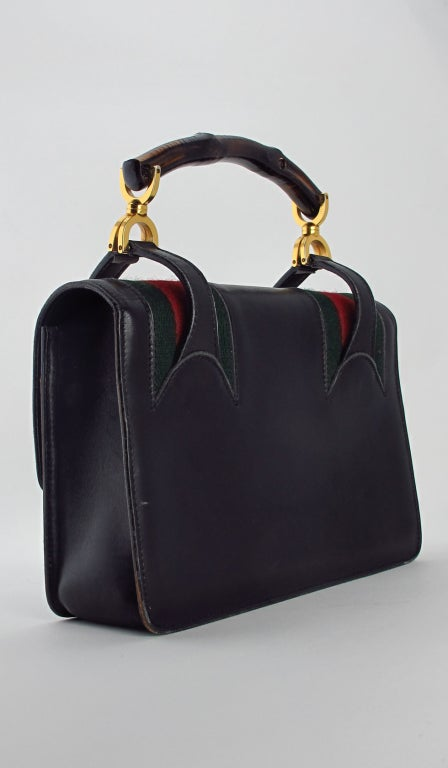 Rare Gucci bamboo handle handbag 1960s 4