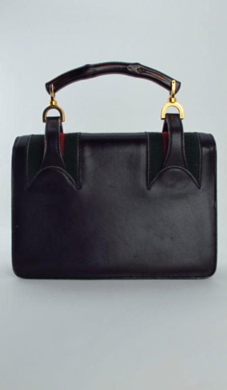 Rare Gucci bamboo handle handbag 1960s 6