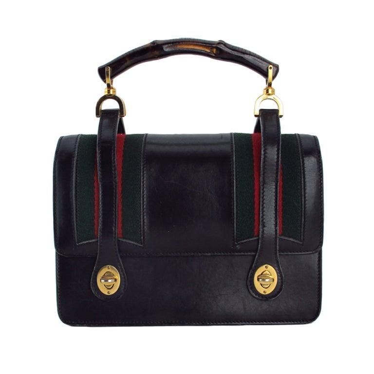 Rare Gucci bamboo handle handbag 1960s 1