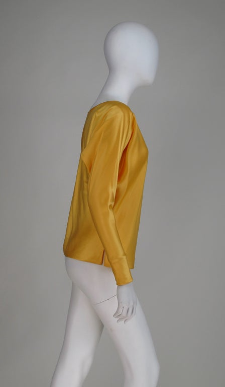 Women's Gres Boutique saffron silk blouse For Sale