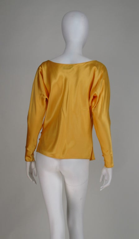 Gres Boutique saffron silk blouse For Sale 1