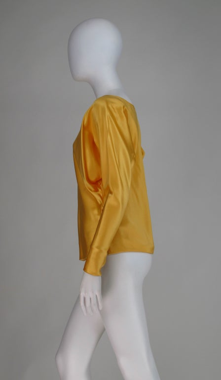 Gres Boutique saffron silk blouse For Sale 2