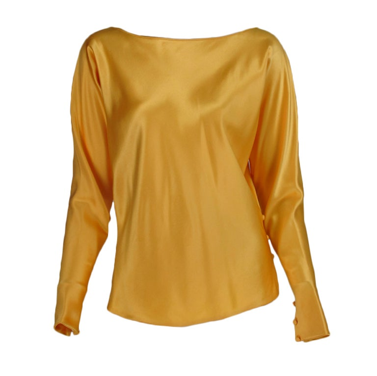 Gres Boutique saffron silk blouse