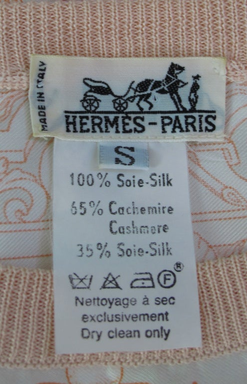 Hermes silk scarf sweater blouse For Sale 5