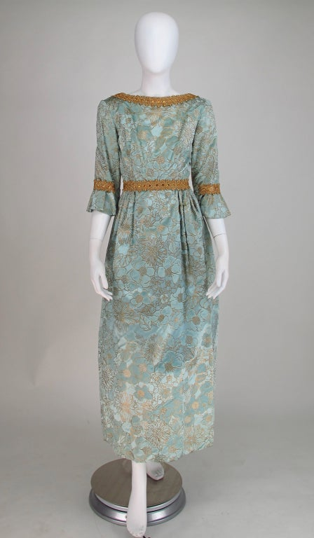 Rare Lisa Meril gown designed by Jo Copeland 1970s 2
