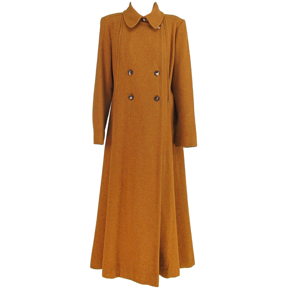 1990s Hermes Military Influenced Wool Maxi Coat At 1stdibs