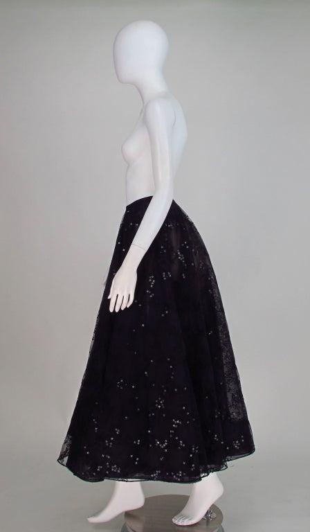 Oscar de la Renta black tulle moon & star evening skirt 3